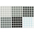 5x5 Stickers Grey Scale Set. Pegatinas Escala Gris