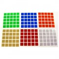 5x5 Stickers Chrome Set. Magic Cube Replacement