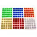 5x5 Stickers Chrome Set. Pegatinas Base Negra
