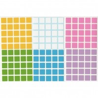 5x5 Stickers Light Set. Pegatinas Base Negra