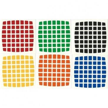 V-Cube 7x7 Stickers White Set. Pegatinas Base Blanca