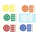 Dayan Wheel of Wisdom Stickers Standard Set. Magic Cube Replacement