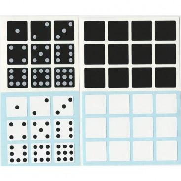 Domino 3x3x2 Stickers Set. Pegatinas Cuboide Mágico