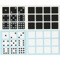 Domino 3x3x2 Stickers Set. Cuboid Replacement Stickers