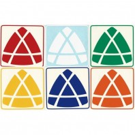 Jing's Pyraminx Stickers Standard Set. Pegatinas Base Negra