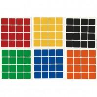4x4 adesivos branco definido. Substituição do cubo mágico