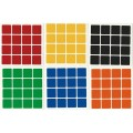 4x4 Stickers White Set. Magic Cube Replacement