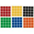 4x4 Stickers White Set. Pegatinas Base Blanca