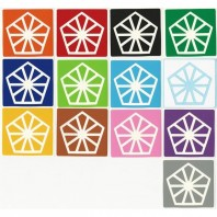 Pyraminx Crystal Stickers Standard+White Set. Magic Cube Replacement