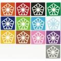 Pyraminx Crystal Stickers Set. Pegatinas Base Negra y Blanca
