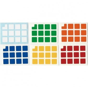 Keychain 3x3 Stickers Standard Set. Magic Cube Replacement