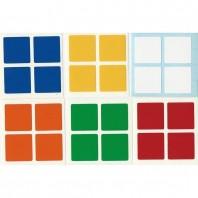 2x2 adesivos conjunto padrão cubo de Rubik. Substituição do cubo mágico