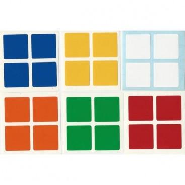 Rubik's 2x2 Stickers Standard Set. Pegatinas Base Negra