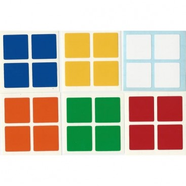 Rubik's 2x2 Stickers Standard Set. Magic Cube Replacement