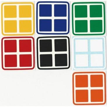 2x2 Stickers Standard Set. Pegatinas Base Negra o Blanca