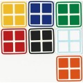 2x2 Stickers Standard+White Set. Magic Cube Replacement
