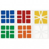 Square-1 Stickers Standard Set. Pegatinas Base Negra