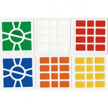 Super Square-1 Stickers Standard Set. Pegatinas Base Negra