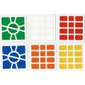 Super Square-1 Stickers Standard Set. Pegatinas Base Negra