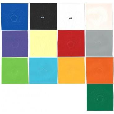 MF8 Teraminx Stickers Standard Set. Pegatinas Base Negra y Blanca