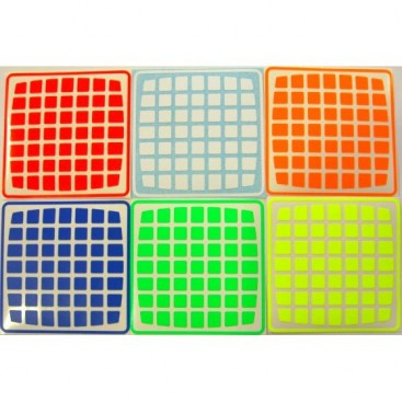 UltraViolet 7x7 Stickers Set. Pegatinas Reflectantes