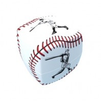 V-Cube 2x2 Baseball 2b Pillow. Glossy Magic Cube