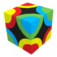 V-Cube 3x3 Circles United 3b Pillow. Cubo Brillante de Círculos