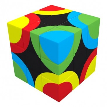 V-Cube 3x3 Circles United 3b Pillow. Glossy Magic Cube