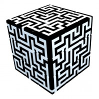 V-Cube 3x3 Maze 3b Pillow. Cubo Brillante Laberinto