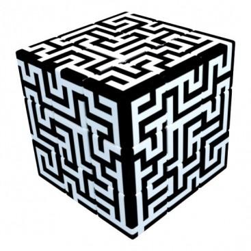 V-cubo 3x3 labirinto 3b travesseiro. Cubo mágico lustroso