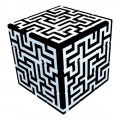 V-Cube 3x3 Maze 3b Pillow. Glossy Magic Cube