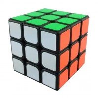 YJ GuanLong 3x3 Magic Cube Black. Base Nera