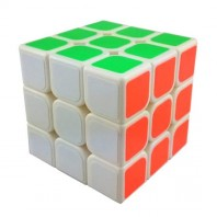 YJ GuanLong 3x3 Magic Cube Black. Base Branca