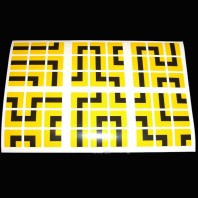 Labyrinth: MAZE: STICKERS 3 x 3. REPLACEMENT STICKERS 3 x 3 x 3.