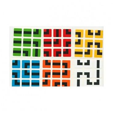 Labirinto: Labirinto: adesivos 3x3. ADESIVOS de substituição 3 x 3 x 3.