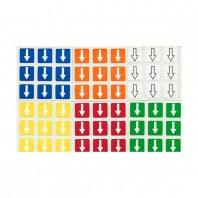 3x3 Stickers Shepherd's White Set. Magic Cube Replacement