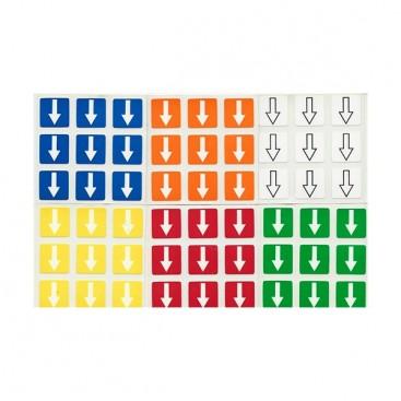 3x3 Stickers Shepherd's 6 colours Set. Pegatinas Flechas 6 colores