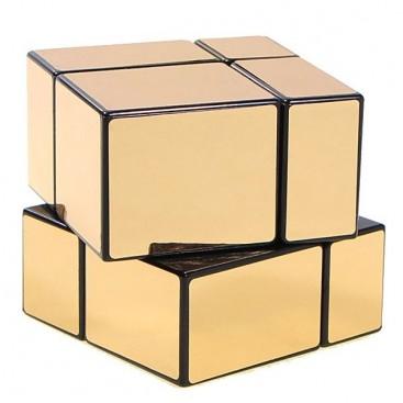 Cubo 2x2x2 Mir-Two oro brillo. Mirror Gold 2x2.