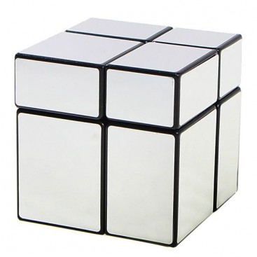 Cubo 2x2x2 Mir-Two plata brillo. Mirror Silver 2x2.