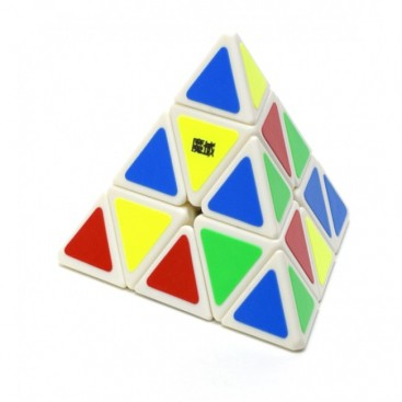 Pyraminx Moyu Base Blanca. Pirámide mágica.