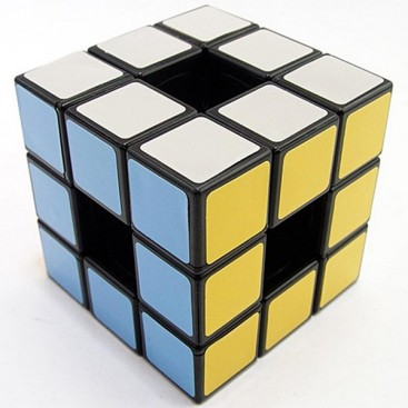Cubo Mágico Vacío LanLan Hollow. Void 3x3x3. Base Blanca stickers.