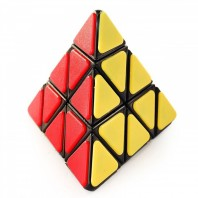 QJ Pyraminx with Tiles Magic Minx. Black Base