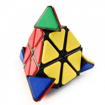 Pyraminx QJ con Tiles Base Negra. Pirámide mágica.