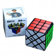 Moyu Aosu YiLeng 4x4 Magic Cube. Black Base