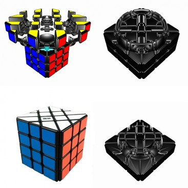Moyu Aosu YILENG 4x4x4 Magic Cube. Black Base