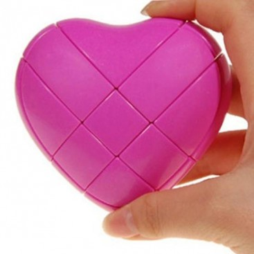 Pink YJ Love Cube. Corazón Cubo Mágico