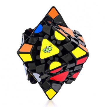 LanLan Gear Octahedron Simple Stickers. Base Negra