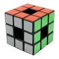 LanLan Hollow 3x3 Cubo Mágico Vacío. Base Negra