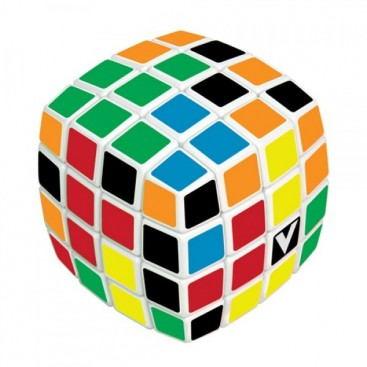 V-Cube 4 Pillow 4x4x4 Magic Cube. Black Base