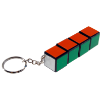 QJ 3x3x3 Mini Magic Cube Keychain. White Base